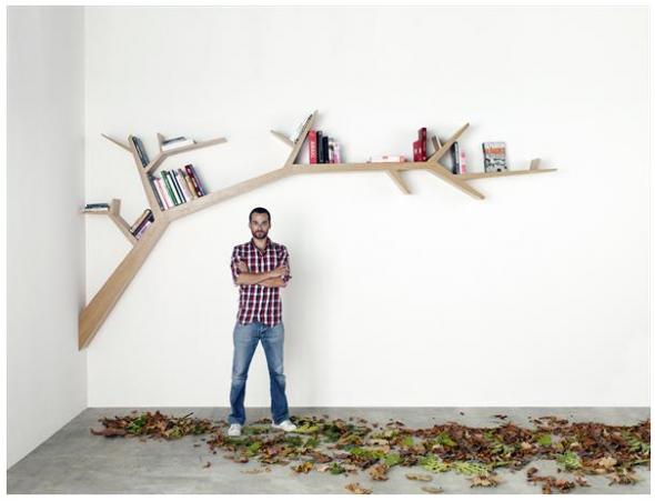Dekoratif Ev Kitaplık Modeli