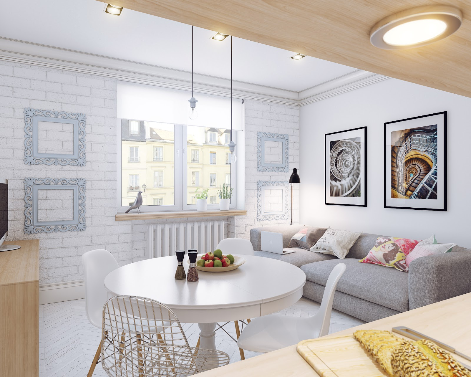 Гостиная интерьер в скандинавском стиле