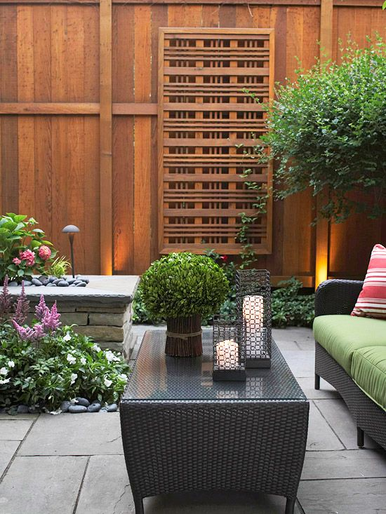En g zel bah e dekorasyonu for Townhouse deck privacy ideas
