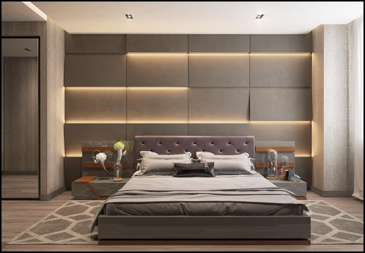 koyu tonlarinda yatak odasi dekorasyonu